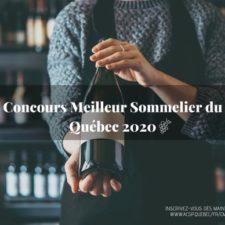 Concours du meilleur sommelier du Québec 2020